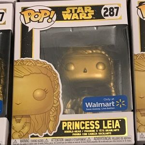 Star Wars Gold Princess Leia Exclusive Funko POP